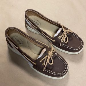Sperry Top Sider Brown & Plaid Boat Shoes
